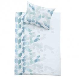Povlečení Sanitized Stripes - modro/zelená listy