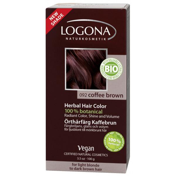 LOGONA Rostlinná barva na vlasy - KÁVOVĚ HNĚDÁ