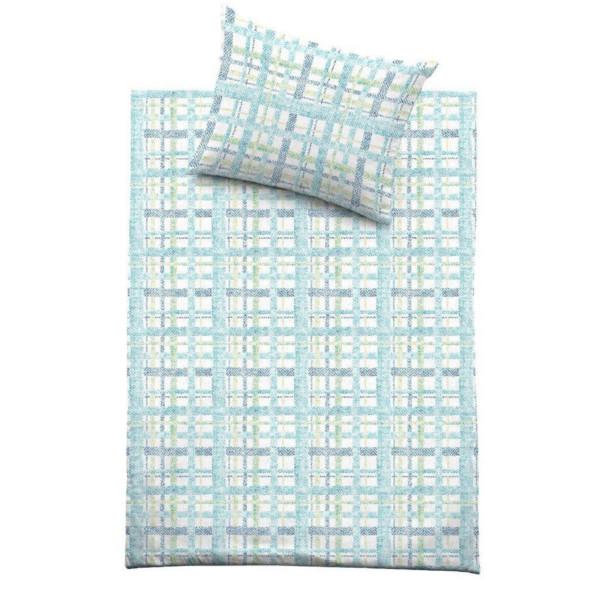 Povlečení Sanitized Blues - zeleno/modrá 140x200 70x90, 100% mako bavlna