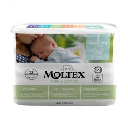 Plenky Moltex Pure & Nature – Newborn 2–4 kg (22 ks)