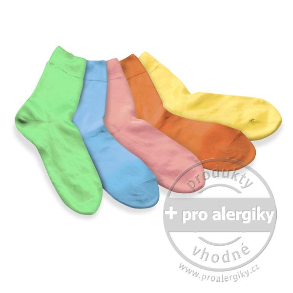 Ponožky 100% bavlna, dívčí 5 ks mix - vel. 17 Tatrasvit