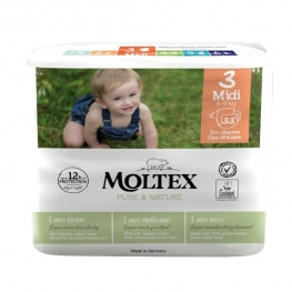Plenky Moltex Pure & Nature – Midi 4–9 kg (33 ks)