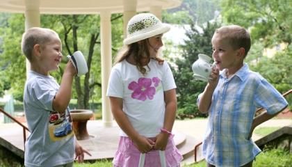 Děti v lázních (zdroj: Lázně Luhačovice)