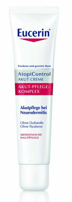 Některé druhy dermokosmetiky lze používat i na ekzém v tzv. akutní fázi pro zklidnění podrážděné a zarudlé pokožky a potlačení svědění kůže.