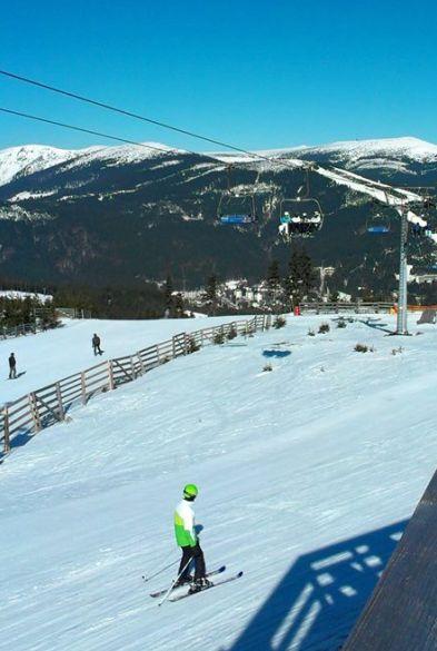 Odpolední lyžování při pobytu v Dětské ozdravovně Bedřichov