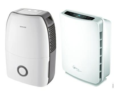 Velmi účinnými a praktickými pomocníky při alergii na plísně jsou odvlhčovač a čistička vzduchu