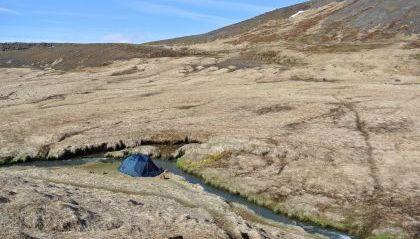 Stanování v přírodě na Islandu