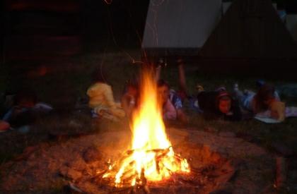 Táborový oheň bývá obvykle společenská událost