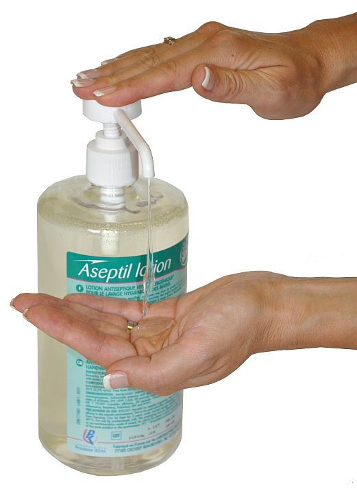 Dezinfekční mýdlo bez alergií Stéridine Aseptil Lotion