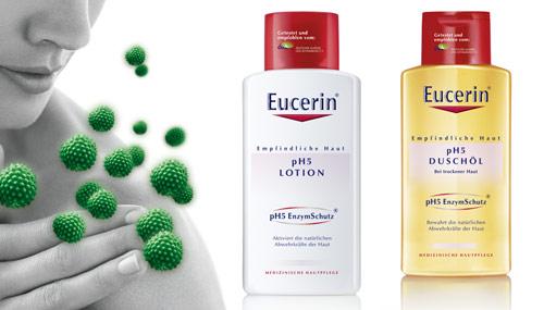 Na posílení pokožky před pylovými alergeny existuje speciální kosmetika (zdroj: Eucerin)