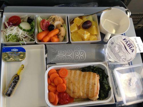 Bezlepkové menu v letadle