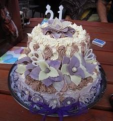 Bezlepkový narozeninový dortík