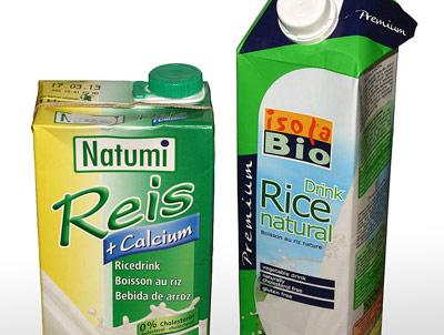 Rýžová mléka balená v tetrapacku