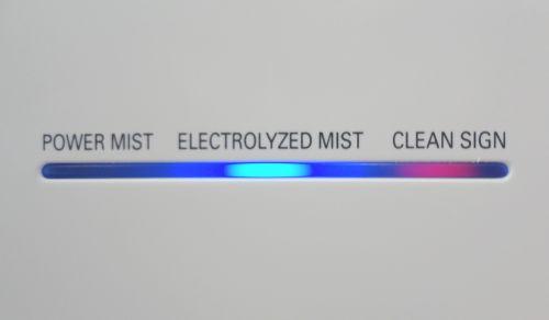 Indikátor provozu na předním panelu čističky