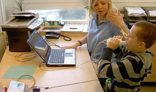 Spirometrické vyšetření na klinice Hornmed v Brně