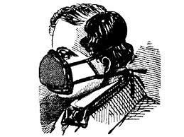 Dobová ilustrace respirátoru