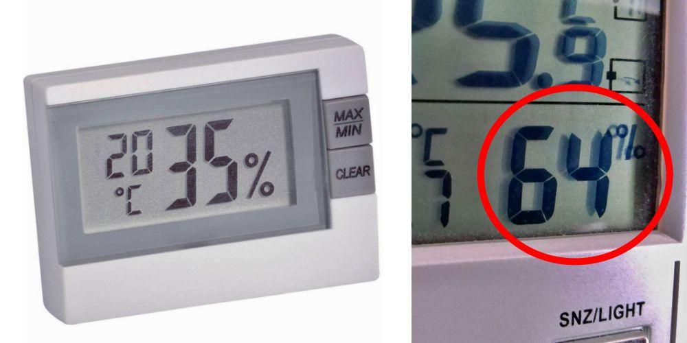 Sledujte vlhkost vzduchu v bytě pomocí vlhkoměru nebo meteostanice