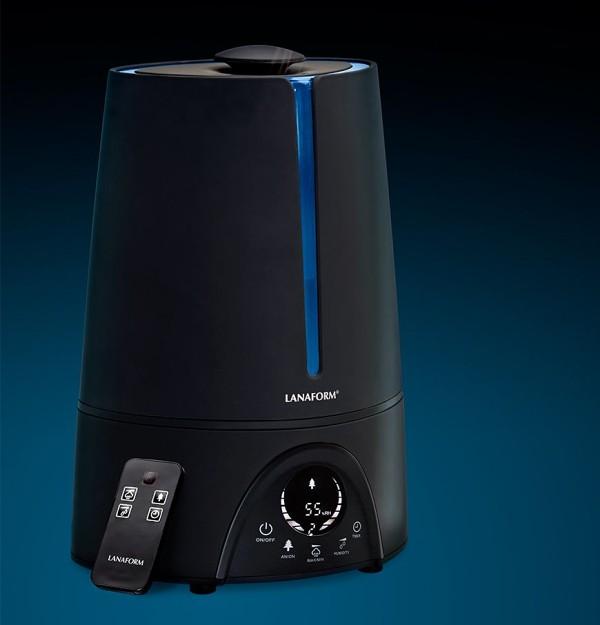 Zvlhčovač vzduchu Lanaform New Vapolux s hygrostatem, ionizátorem a dálkovým ovládáním